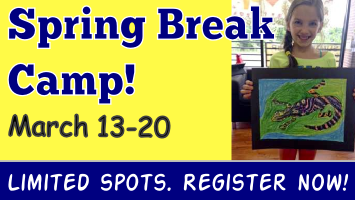 Spring Break Camp has limited spots. Register today!